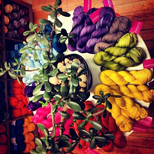 SweetGeorgia hand dyed yarns - Amazing colors! Did I mention that it is available in super wash?