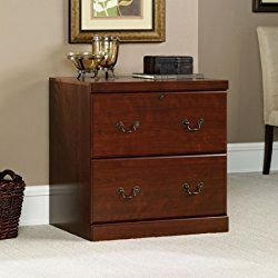 2 Drawer File Storage Cabinet with Top Drawer Locks, File Organizer, Extra Space, Traditional Style, Home Office, Work, Saves Space, Furniture, Classic Cherry Finish