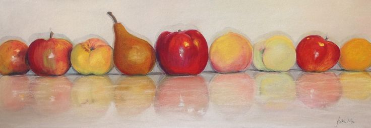 Summer fruit - pastel by Jackie Mac