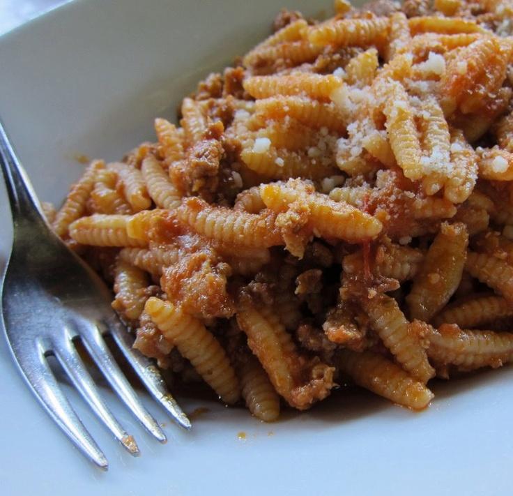Dreaming of Sardinia: Malloreddus al ragu di cinghiale.  Gnocchetti sardi #Sardegna Italian regional food