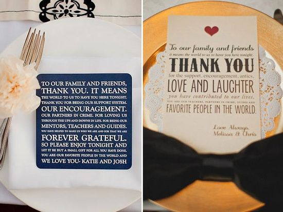 Wedding Gift Etiquette Toronto : menu cards wedding odds sods wedding thank you wedding wedding wedding ...
