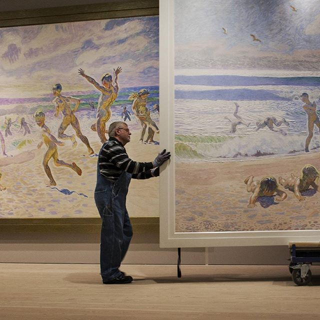 … aaaand we're ready, well almost. Our new exhibition on Willumsen's incredible work 'Sun and youth' opens tomorrow, hope to see you here in Skagen sometime during the next couple of (hopefully lovely summer) months #willumsen #jfwillumsen