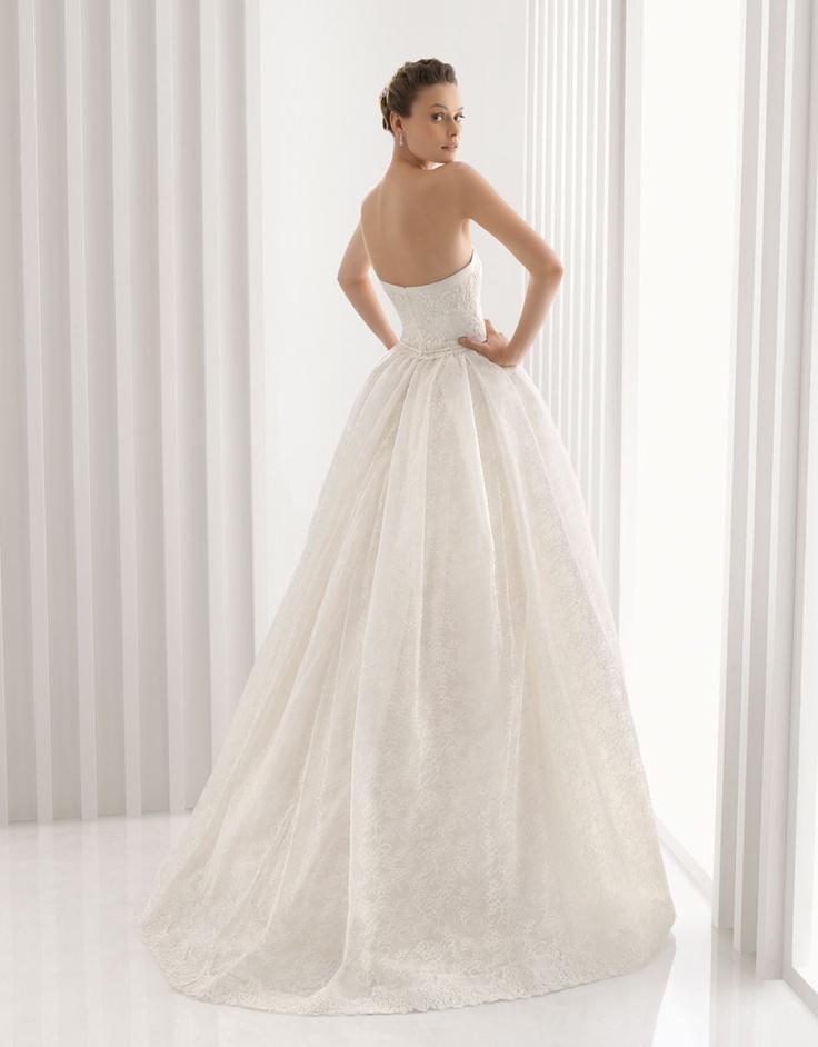 Elegant Rosa Clara America Strapless Wedding DressesBridal GownsLace