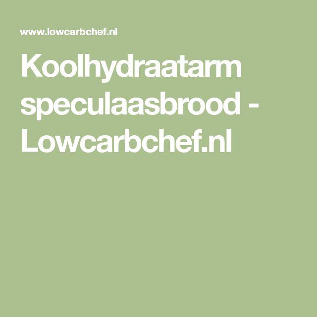 Koolhydraatarm speculaasbrood - Lowcarbchef.nl