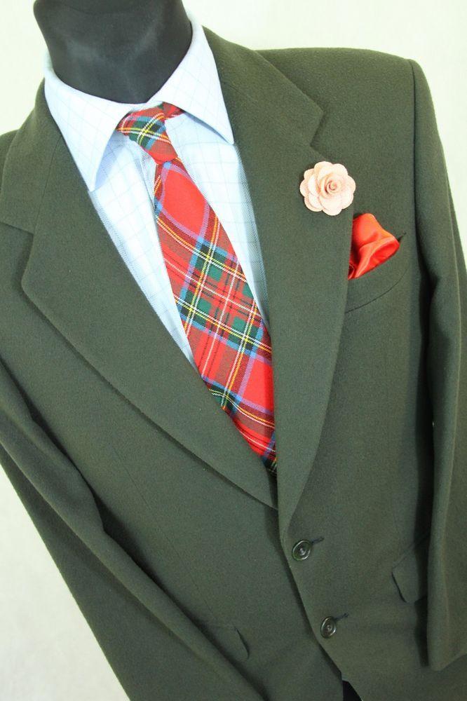 ALEXANDRE OF ENGLAND WOOL CASHMERE BLEND MOSS GREEN JACKET BLAZER UK 36S EUR 46S #ALEXANDREOFENGLAND #Blazers
