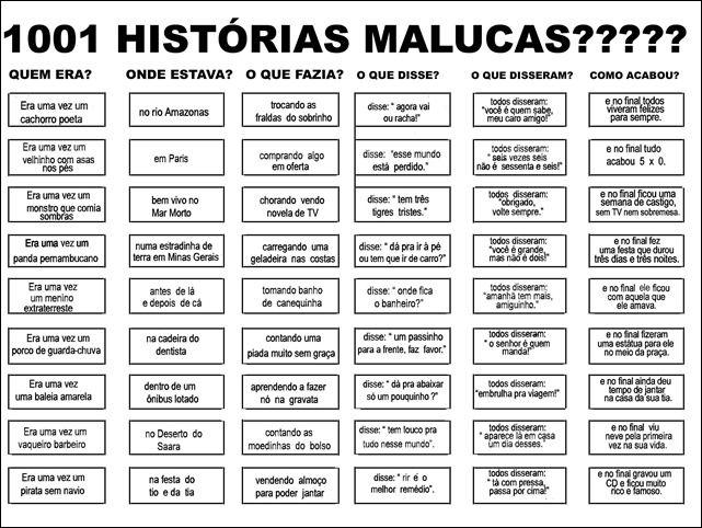Blog de atividades fundamental 1 e 2: 1001 HISTÓRIAS MALUCAS
