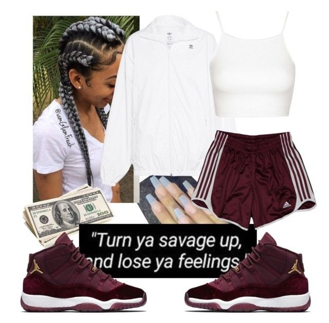 """They cant fw me on the block ✊"" by bbgxmoore ❤ liked on Polyvore featuring adidas Originals, Topshop and adidas"