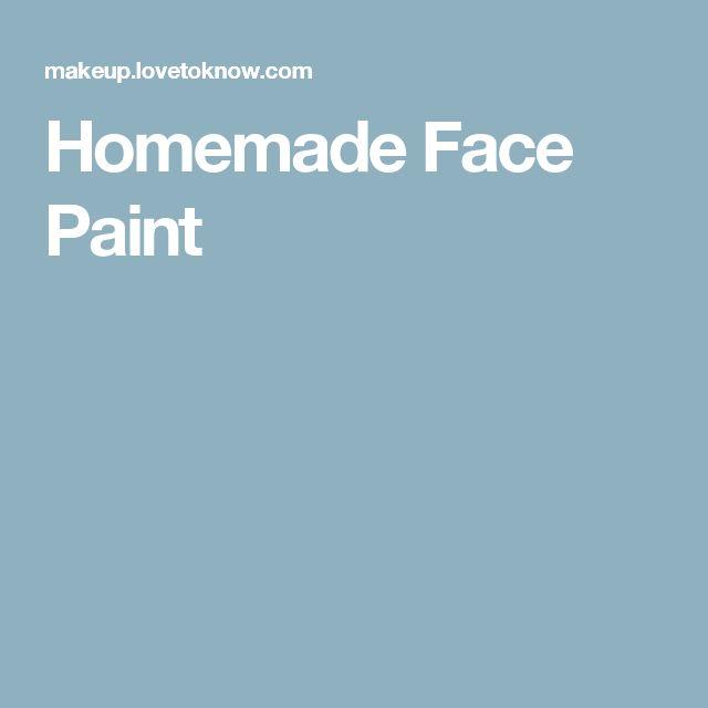 Homemade Face Paint