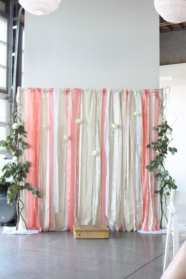 Lace And Ribbon Wedding Backdrop The Ribbon Cakes And