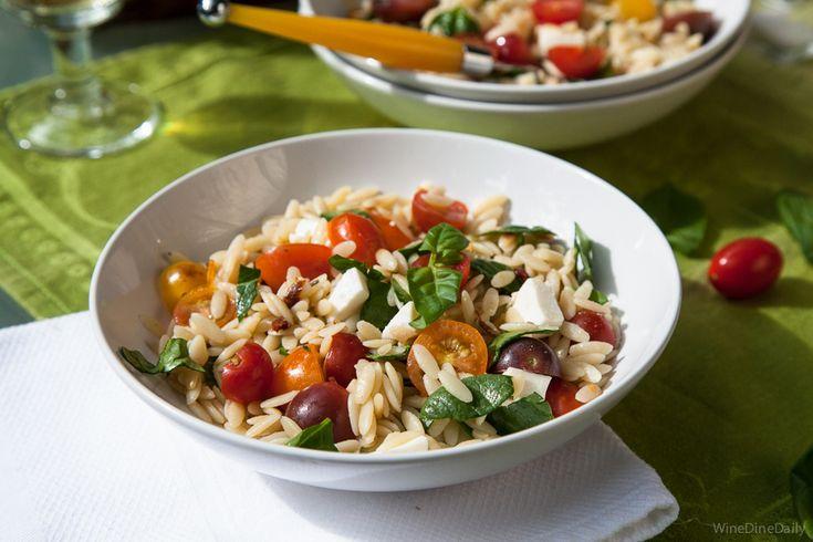 Tomato Basil Mozzarella Orzo Salad