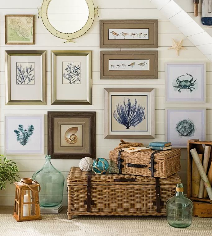 30 Coastal Gallery Walls Inspiration Ideas To Create A Compelling Wall Art Display Gallery Wall Inspiration Coastal Gallery Wall Art Gallery Wall