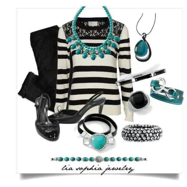 Lia Sophia Turquoise Ensemble Fall Winter 2014 2015 #turquoise #liasophia #kimberlyclairenecklace www.liasophia.com/dazzlingdianne