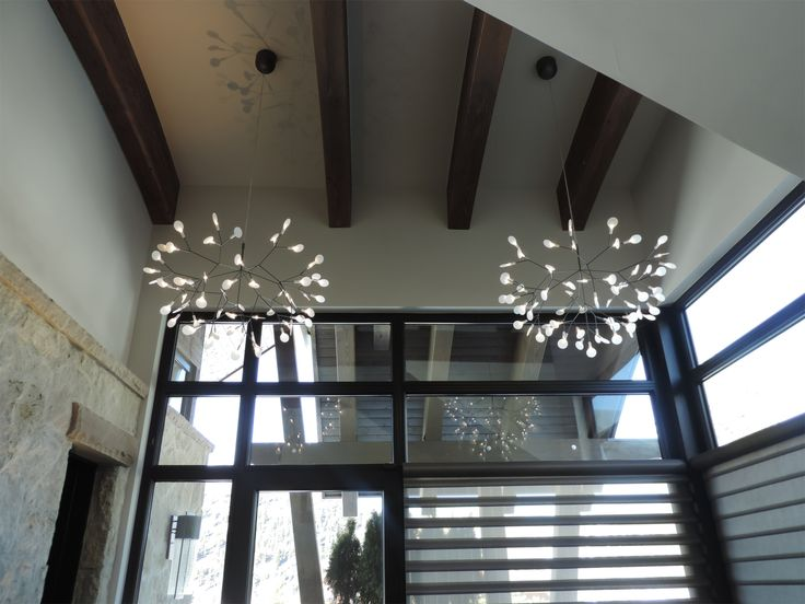 Installation gallery entry foyer lighting see more from lightology com · heracleum led suspension by moooi