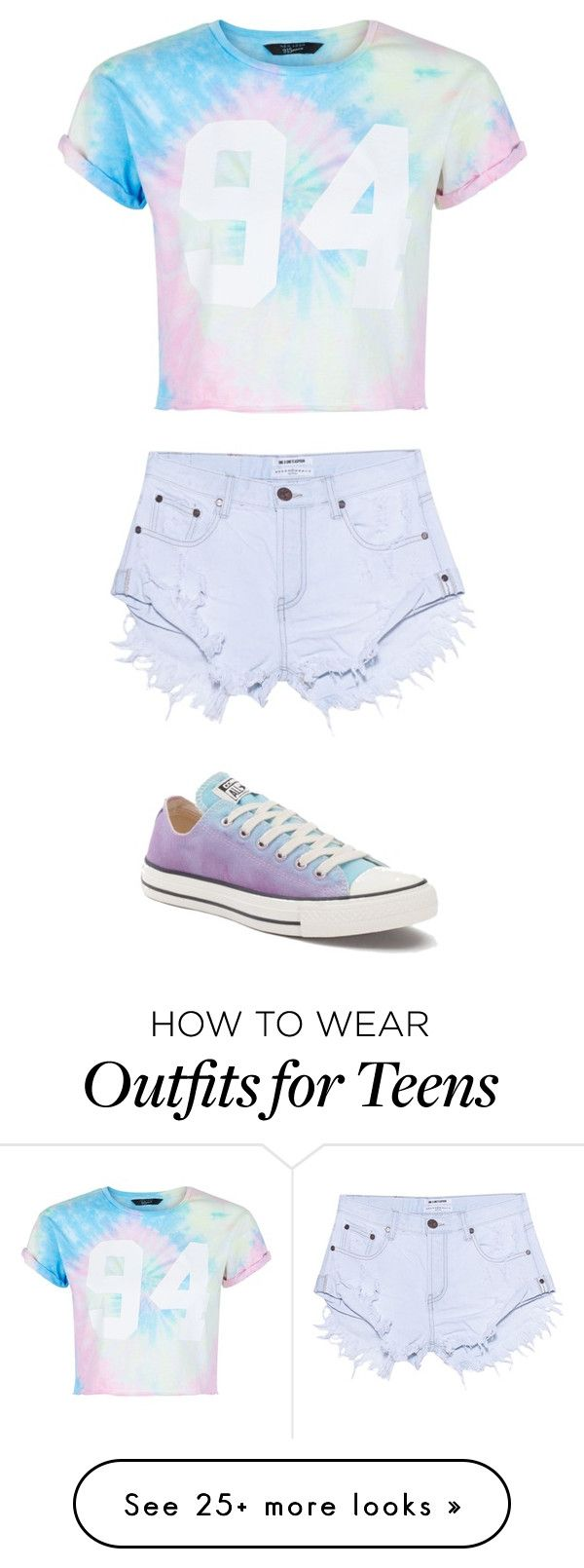 """""""Untitled #261"""" by izzybean100 on Polyvore featuring New Look, One Teaspoon and Converse"""