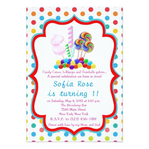 133 best candy birthday invitations images on pinterest birthday candy birthday party invitations candyland candy first birthday birthday invitation stopboris Image collections