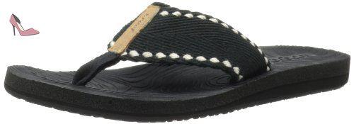 Reef  REEF ZEN WONDER, Tongs pour femme - Noir - Schwarz (BLACK/BLACK / BK2), 37.5 EU - Chaussures reef (*Partner-Link)