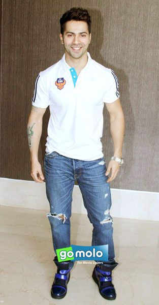 Varun Dhawan at the Launch of FC Goa's official jersey in Mumbai