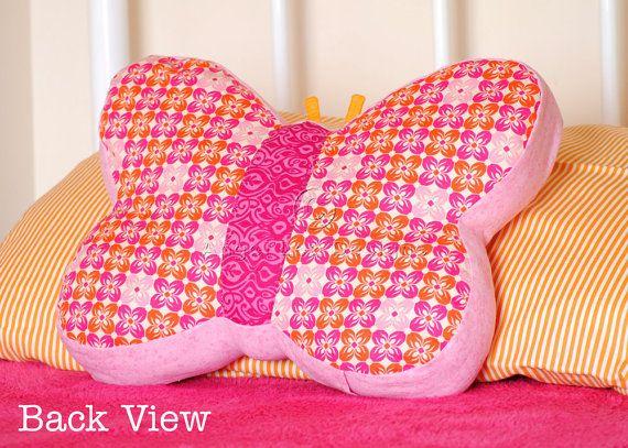 Butterfly Cushion Pattern PDF Sewing Pattern by AngelLeaDesigns