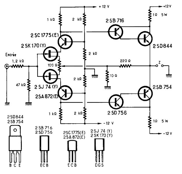 Jean Hiraga Le Monstre / The Monster 8W Class-A Amplifier Schematic