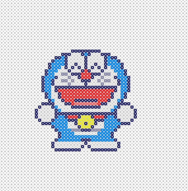 Doraemon Hama Beads pattern