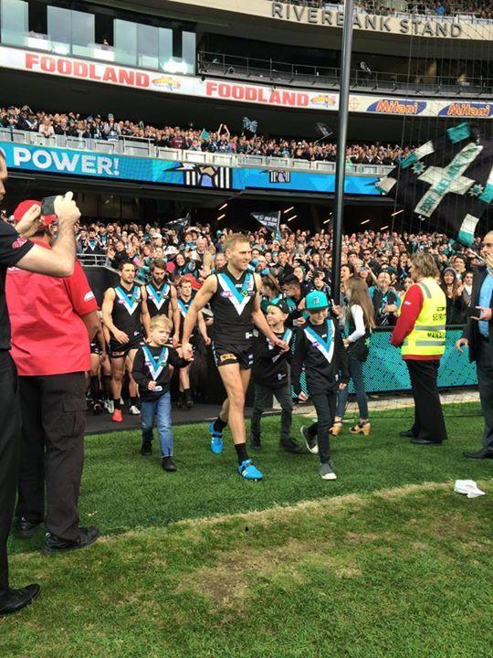 Kane Cornes 300th and final game Port Adelaide Football Club - FB