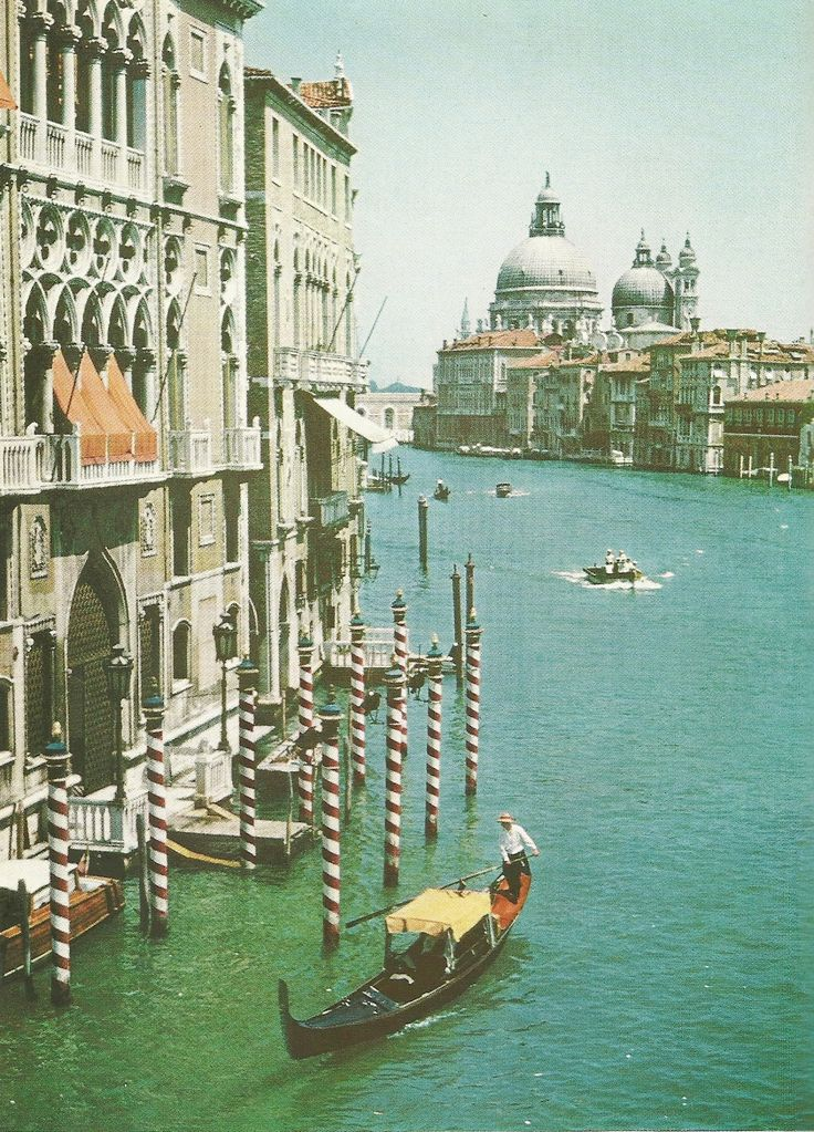 Grand Canal, Venice  National Geographic | June 1957