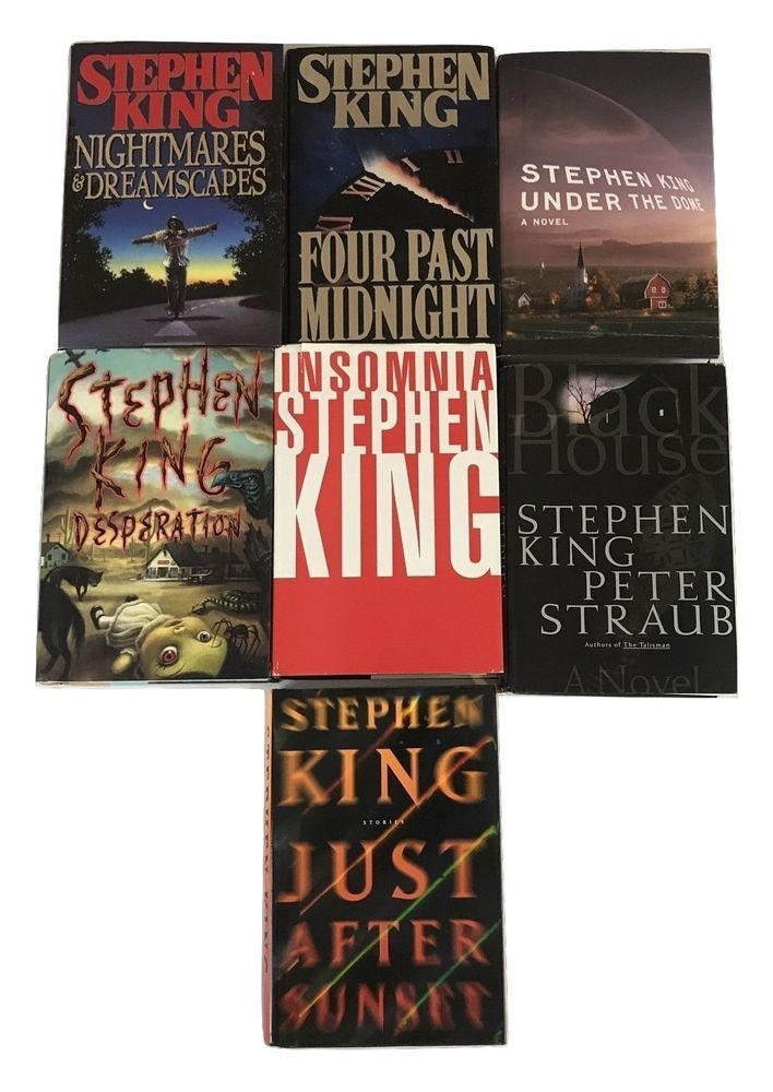 Stephen King lot of 7 Hardcover Books Insomnia Desperation Under the Dome #stephenking #horror #fiction #book #books TigerTownTreasures.com