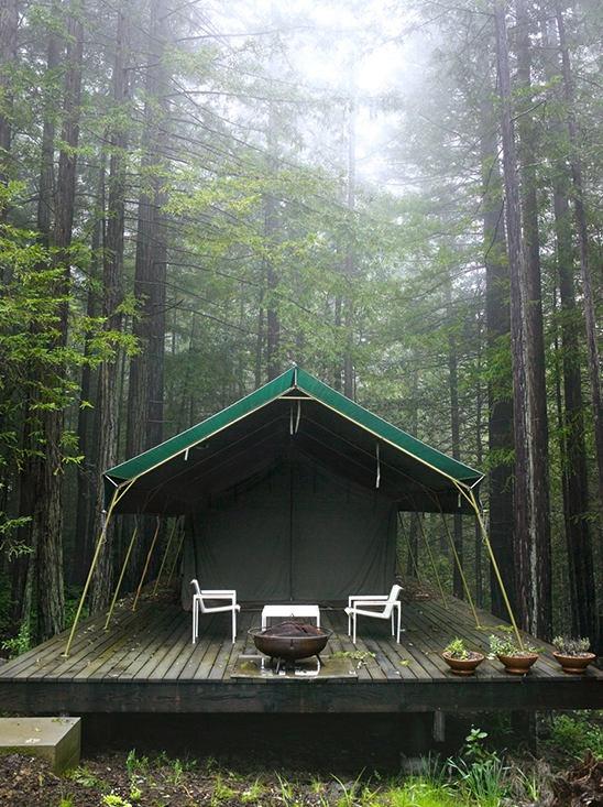 Tent Deck Camping Pinterest
