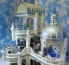 This is AMAZING!! Playmobil Snow queens palace! Made from the Fairy Tale castle.