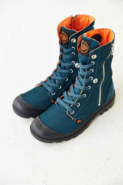 Palladium X Alpha Industries Baggy Hi Zip Boot - Urban Outfitters $90 | Are they waterproof? Because if so, sold.