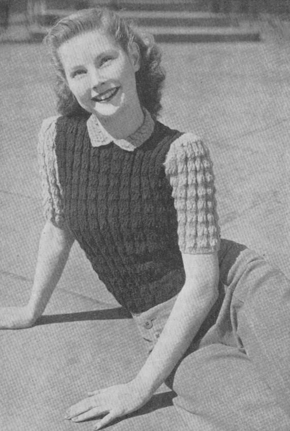 5ecdd7f9eb2 This listing is for a digital file (PDF) of a vintage 1942 knitting pattern
