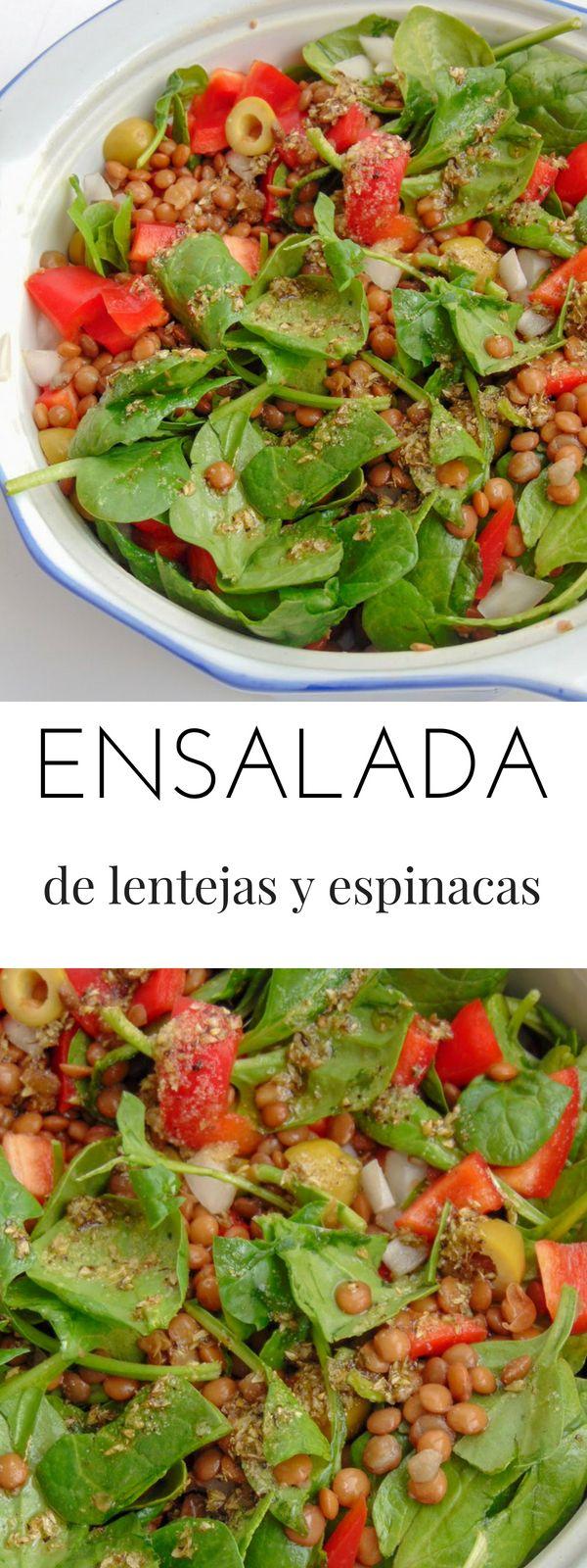 Ensalada de lentejas y espinacas frescas Appetizer Recipes, Appetizers, Bon Appetit, Green Beans, Nom Nom, Salads, Recipies, Tasty, Healthy Recipes