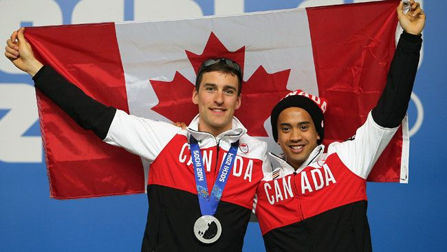 Denny Morrison Silver Medal Men's 1,000 Metre Speedskating with thanks to Gilmore Junio