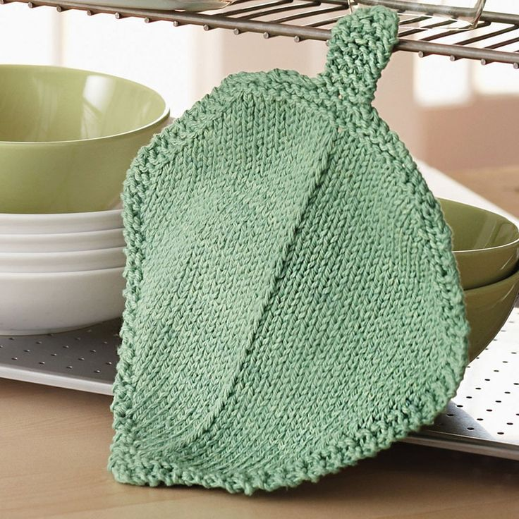 Bernat Garden Leaf Dishcloth (With images) | Dishcloth ...