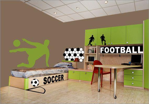 AAA Chambre ado garçon  Pinterest  Football, Art and Stickers
