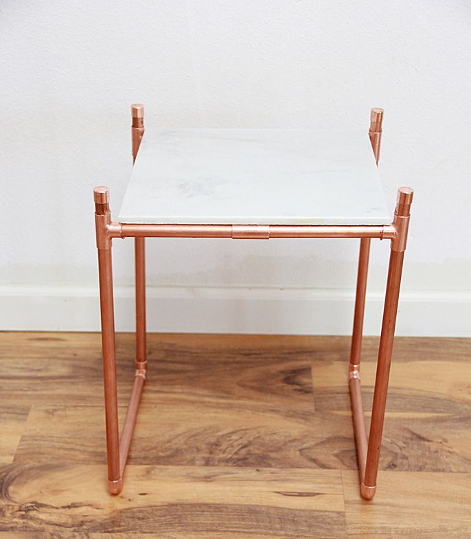copper pipe diys, plant stand diy, how to make a plant stand, how to make a sidetable