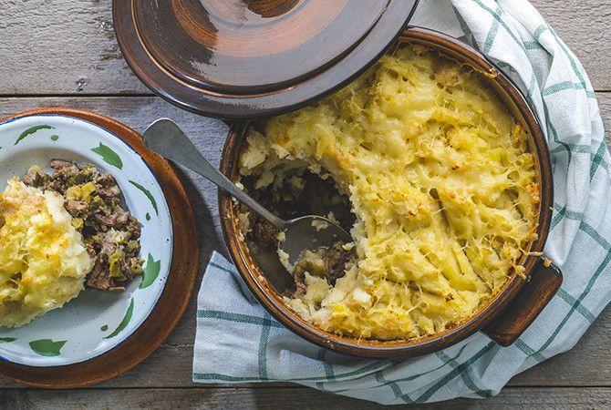 Shepherds Pie met stoofvlees