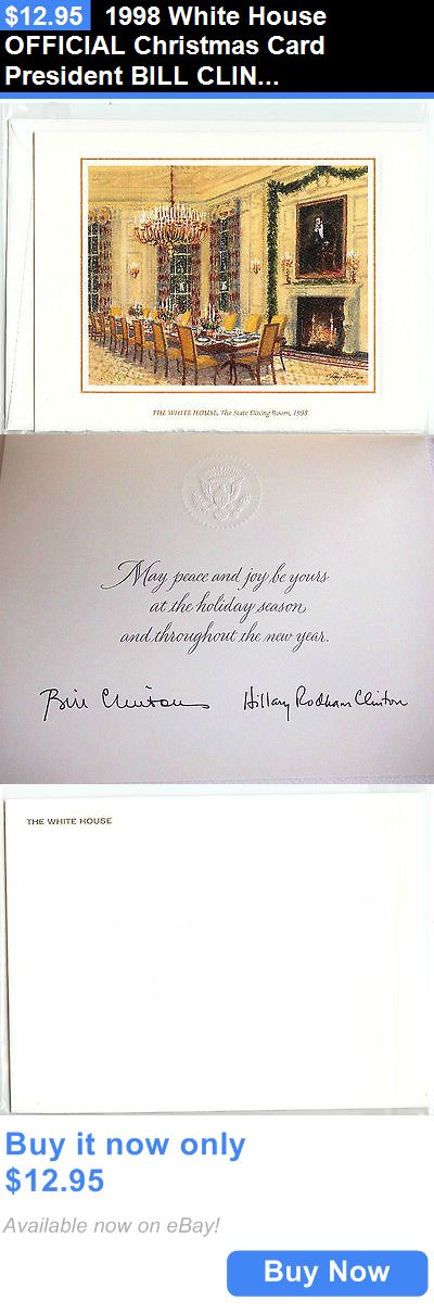 Bill Clinton: 1998 White House Official Christmas Card President Bill Clinton *New* BUY IT NOW ONLY: $12.95