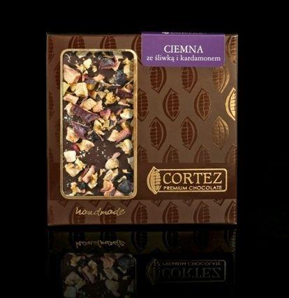 CZEKOLADA ZE ŚLIWKĄ I KARDAMONEM #ciemna #czekolada #cortez #chocolate #dark #sliwki #plums #kardamon #cardamon #sweets