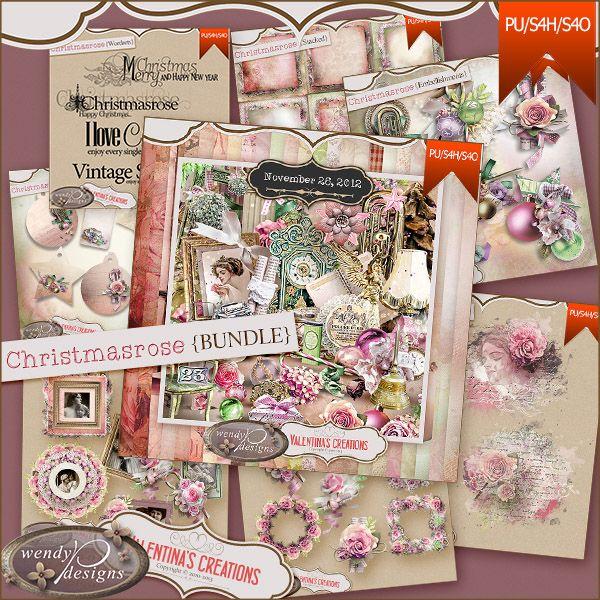 Christmasrose {Bundle} with WendyP Designs
