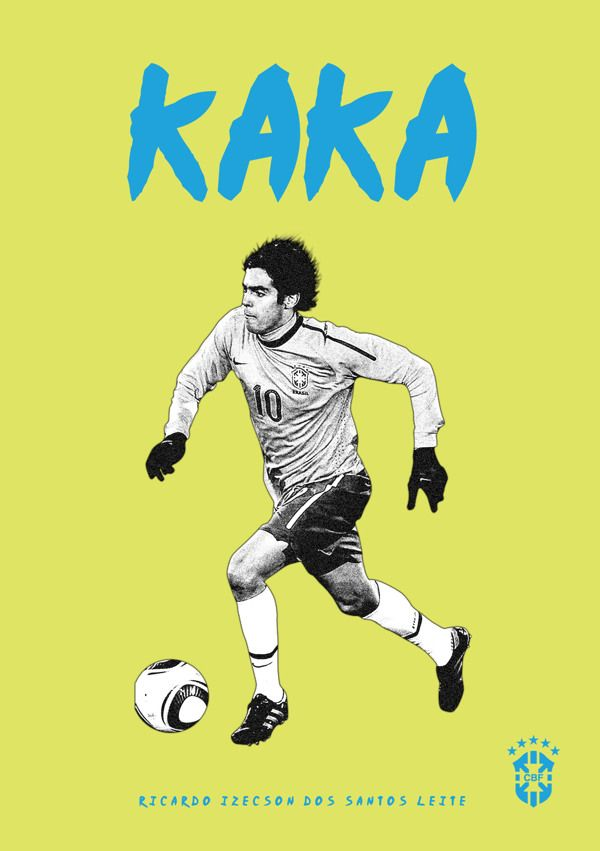 Football Poster designs by Joe Bargus, via Behance #soccer #poster #kaka