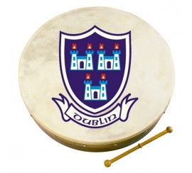 "12"" Bodhrán with Dublin Crest Design"