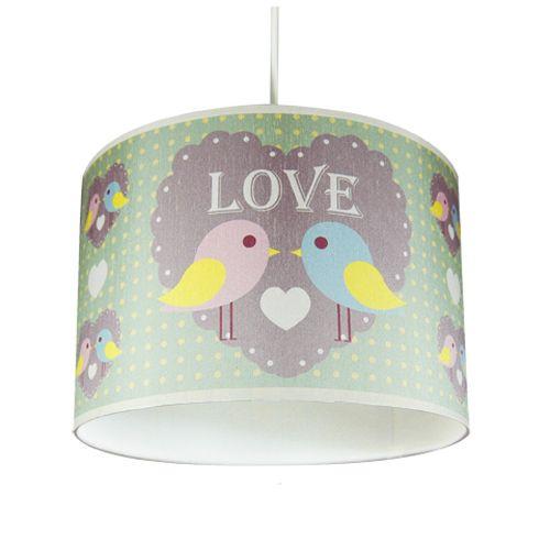 """Decorative Home : Munchkin Creative """"LOVE"""" Bird Lampshade"""