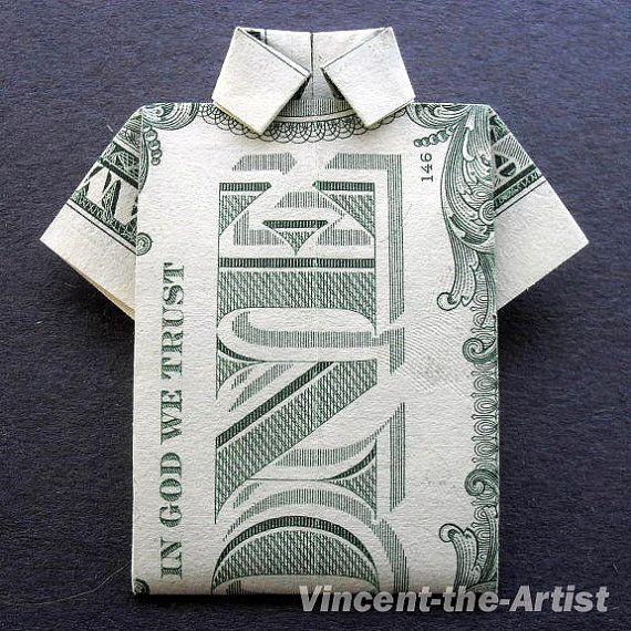 Dollar Polo Shirt Origami