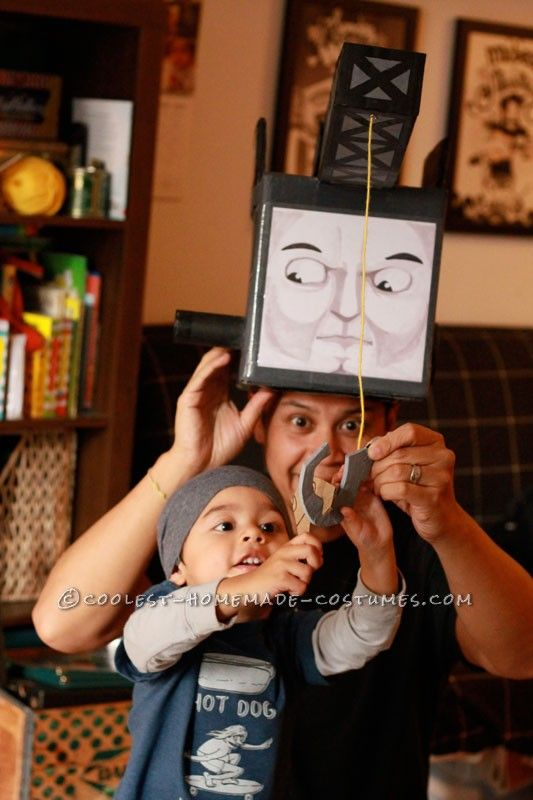 Cool DIY Father and Son Costume: Cranky the Crane and Diesel 10 ...This website is the Pinterest of costumes