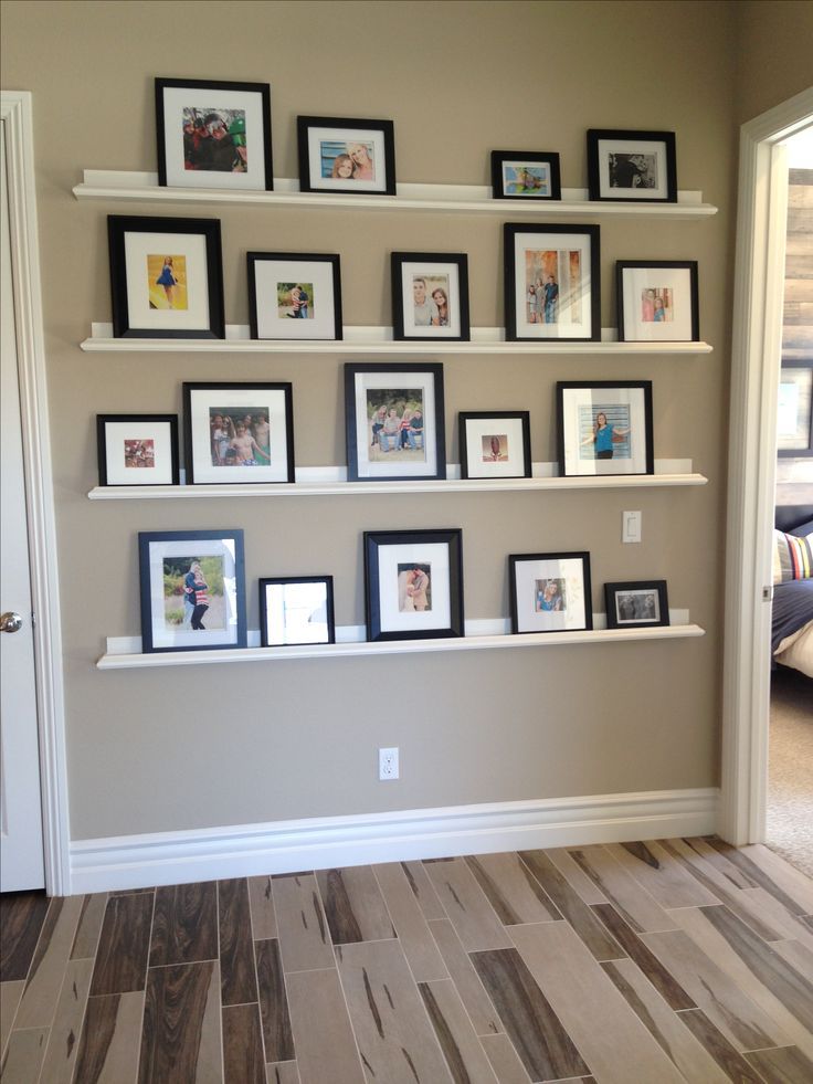 Photo Gallery wall, photo ledges