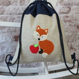 Personalized Draw String Back Pack - FOX