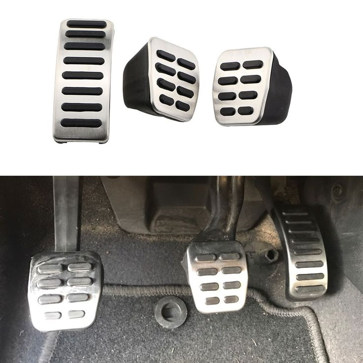 1 Set Stainless Steel Car Gas Brake Pedals for For VW New Beetle + Cabrio 1999-2010 for VW Fox for For Seat Ibiza 6K/6L/6J 1995-