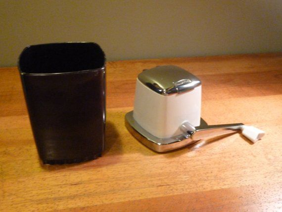 1950s Swing A Way Vintage Countertop Ice Crusher Black White Mid