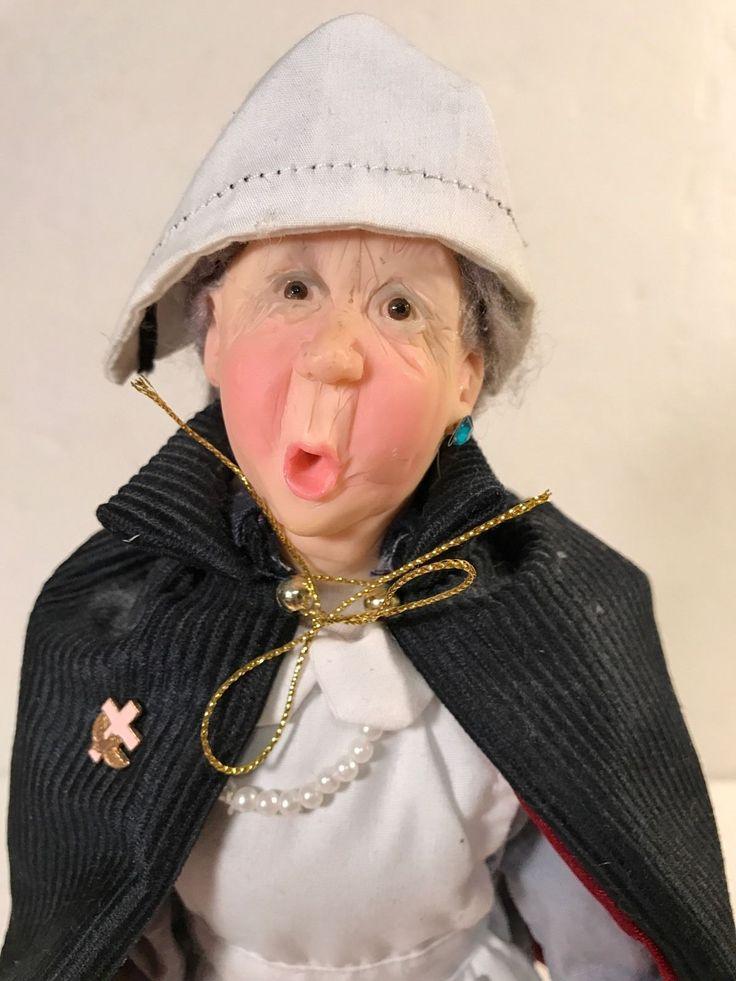 """Jacqueline Kent JKC Town Folk Retirement Age Nurse Nellie 14"""" Doll 2004 JKC"""